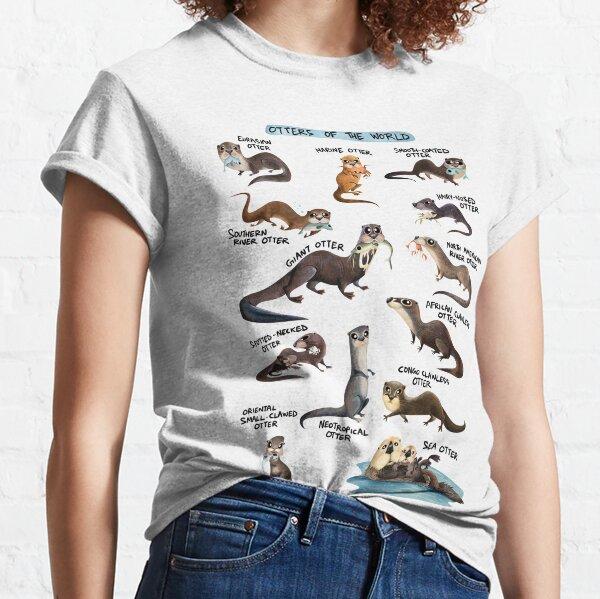 Loutres du monde T-shirt classique