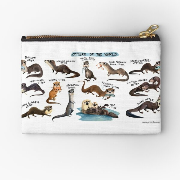 Otters of the World Zipper Pouch