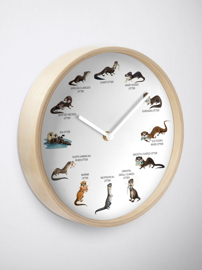 Alternate view of Otters of the World Clock