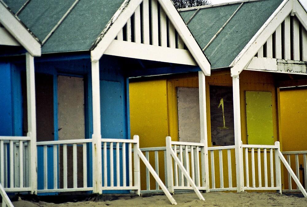 Colorful Old Beach Huts, Lincolnshire, U.K. by Shadowfax