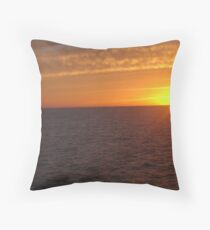 Sun set at Gulf of Mexico Throw Pillow
