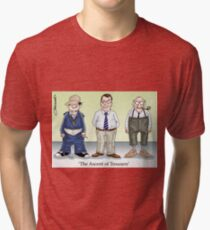 The Ascent of Trousers Tri-blend T-Shirt