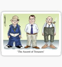 The Ascent of Trousers Sticker