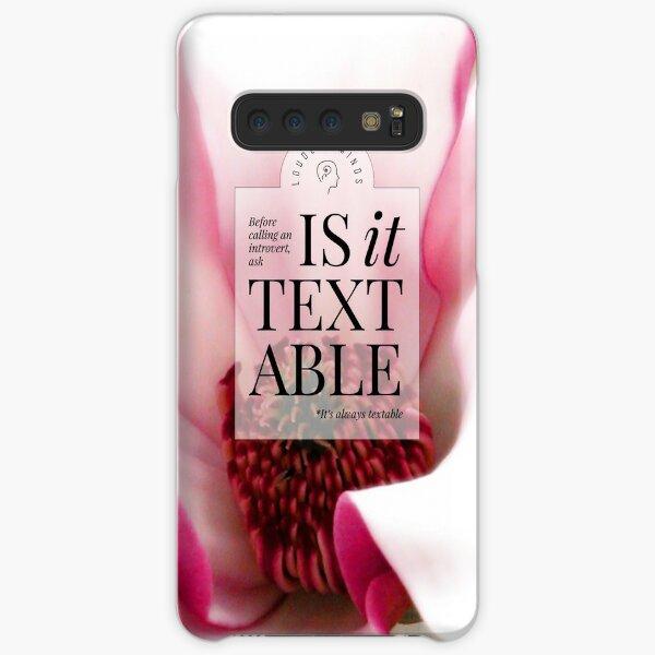 Is it textable? (Magenta Bloom) Samsung Galaxy Snap Case