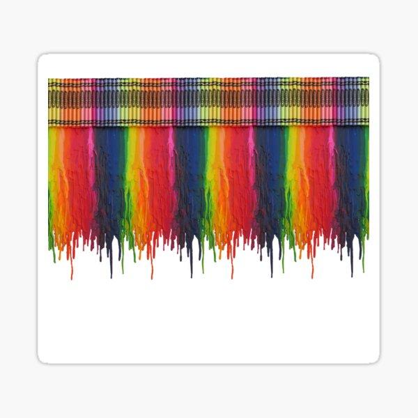 Melting Crayons Sticker