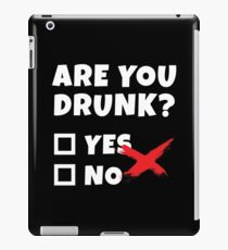 Funny Beer Drinking, Bar Party Humor Gag Gift  iPad Case/Skin