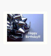 Birthday Bow Art Print