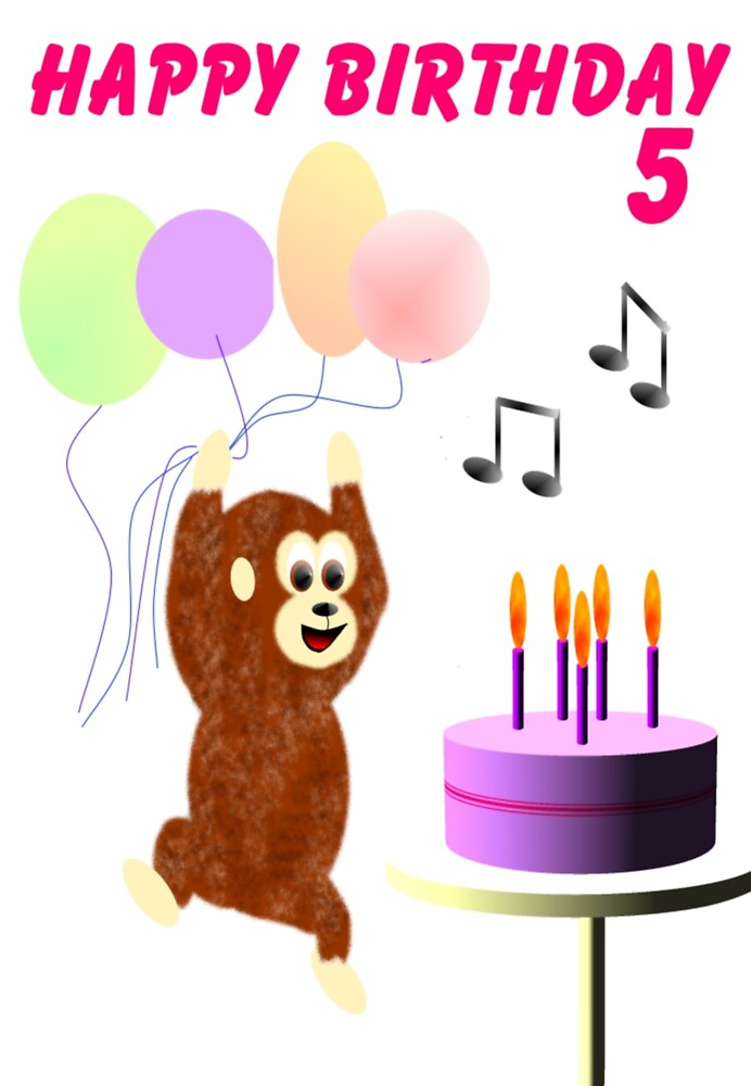 Funky monkey birthday card by EddyG