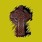 Celtic Cross of Old by Ruben Flanagan
