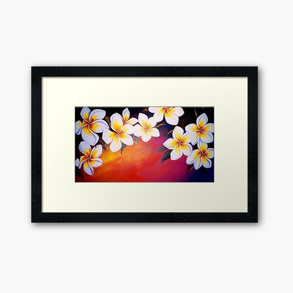 Frangipani Sunset Framed Art Print