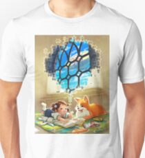 Puzzles of Imagination: Airship Unisex T-Shirt