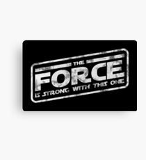 Star Wars - The Force Is Strong With This One Darkside Canvas Print