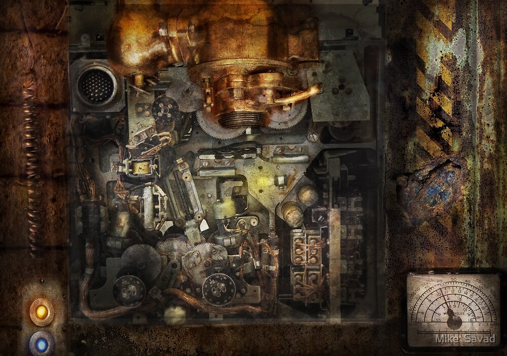 Steampunk - The Turret Computer  by Mike  Savad