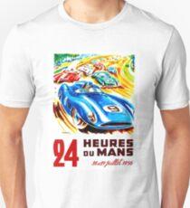 DU MANS: Vintage 24 Hr Auto Racing Print Unisex T-Shirt