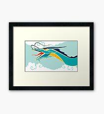 Cyan dragon Framed Print