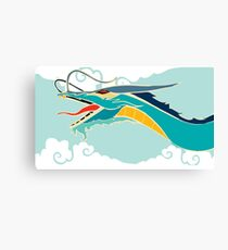 Cyan dragon Canvas Print