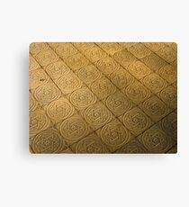 Star of David engraved in stone - Judaism Canvas Print