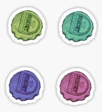 Sunset Sarsaparilla Caps Sticker