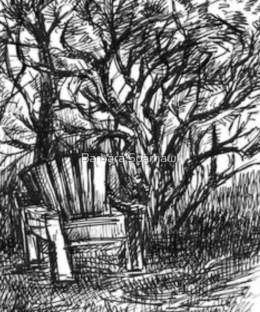 Chair & Mansinita Tree, Yosemite Foothills by Barbara Sparhawk