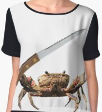 Crab Knife - ONE:Print Women's Chiffon Top