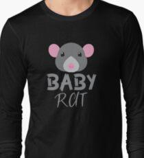 BABY RAT (with a matching Mama Rat and Papa Rat) Long Sleeve T-Shirt