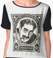 Vintage Groucho  Chiffon Top
