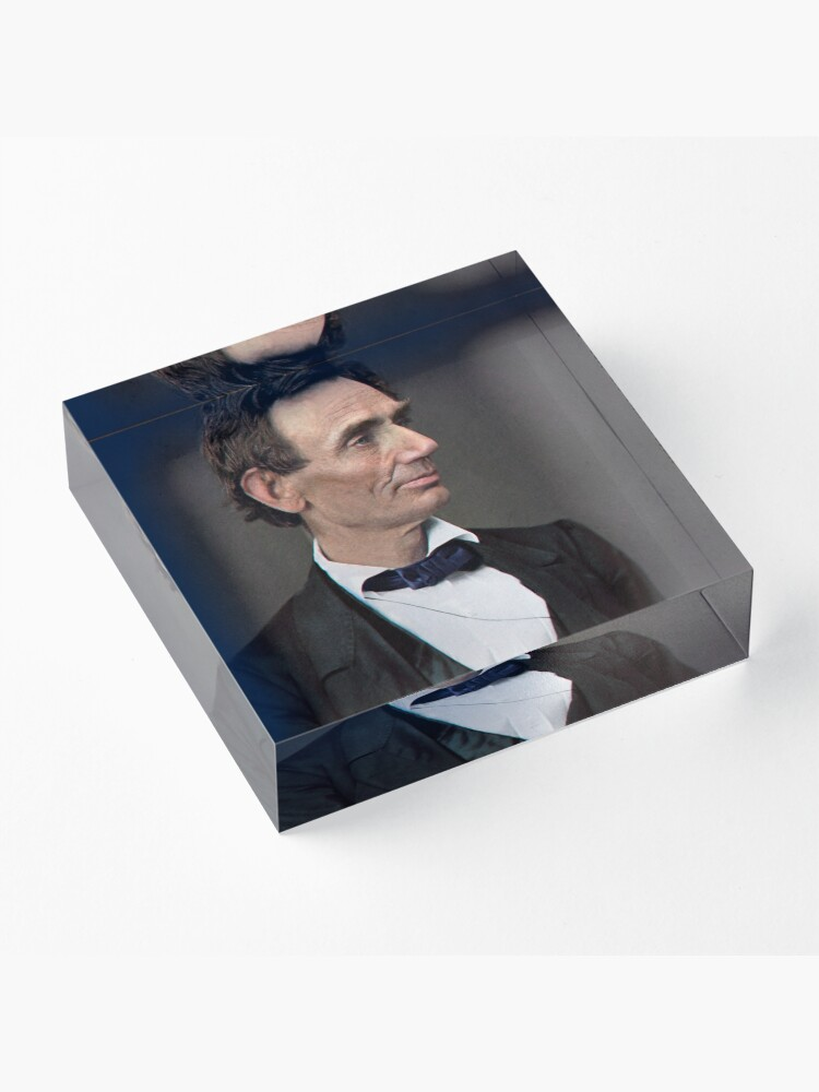 Alternate view of Abraham Lincoln, circa 1863 Acrylic Block
