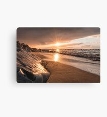 Rays of light at sunset Canvas Print