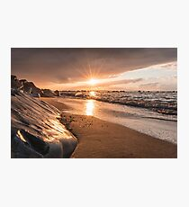 Rays of light at sunset Photographic Print