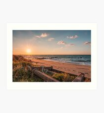 Point of view from the beach Art Print
