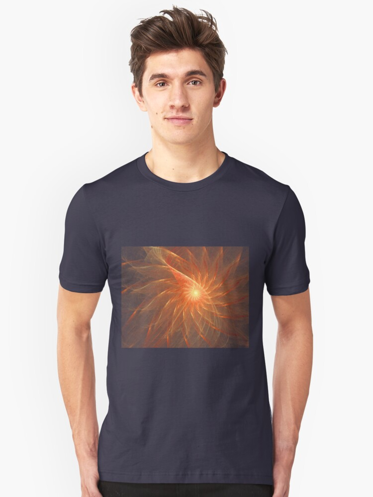 Abstract Flower Unisex T-Shirt Front