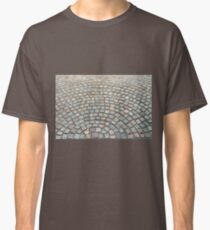 Old cobbled stones road background Classic T-Shirt