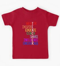 Teacher Meaning Mentor Inspire Educate Coach Share Kids Clothes