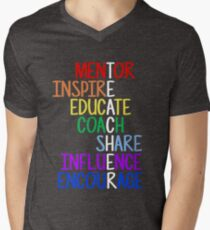 Teacher Meaning Mentor Inspire Educate Coach Share T-Shirt