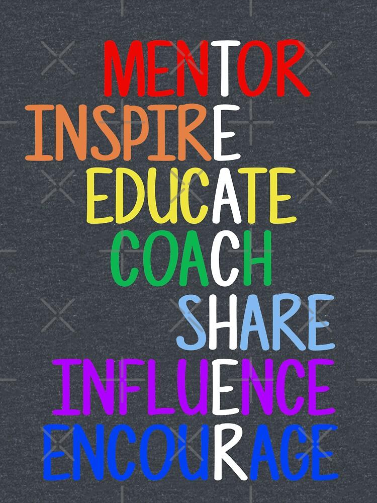Teacher Meaning Mentor Inspire Educate Coach Share by JapaneseInkArt