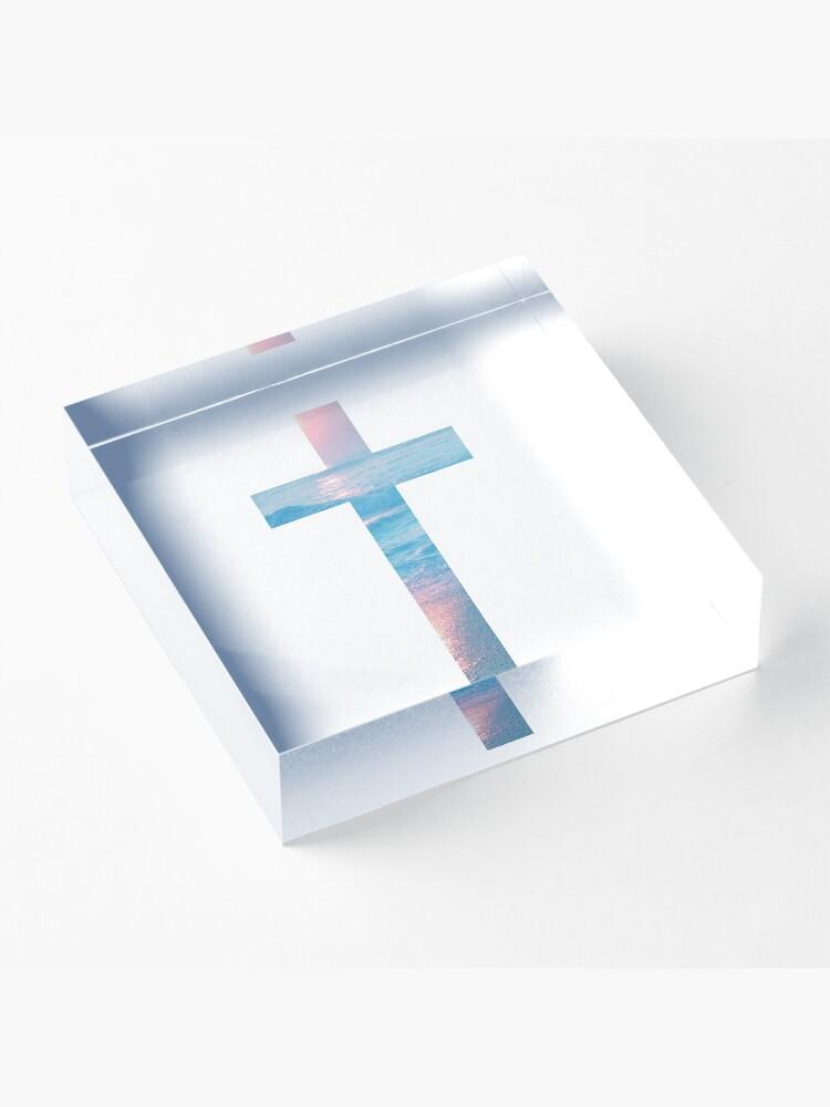 Alternate view of Christian Cross Acrylic Block