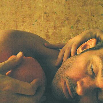 Reclining Male with Orange von Arjaykay