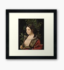 Giorgione - Young Woman (Laura) Framed Print