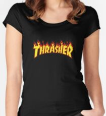 Thrasher Flame Women's Fitted Scoop T-Shirt