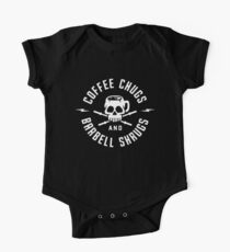 Coffee Chugs And Barbell Shrugs Kids Clothes