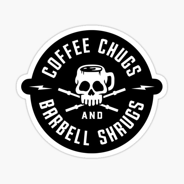 und auch für diejenigen, die es lieben, zuerst Kaffee zu trinken, bevor irgendetwas anderes. Perfekt für Gewichtheber Sticker