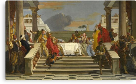 Giovanni Battista Tiepolo - The Banquet Of Cleopatra And Antony by artcenter