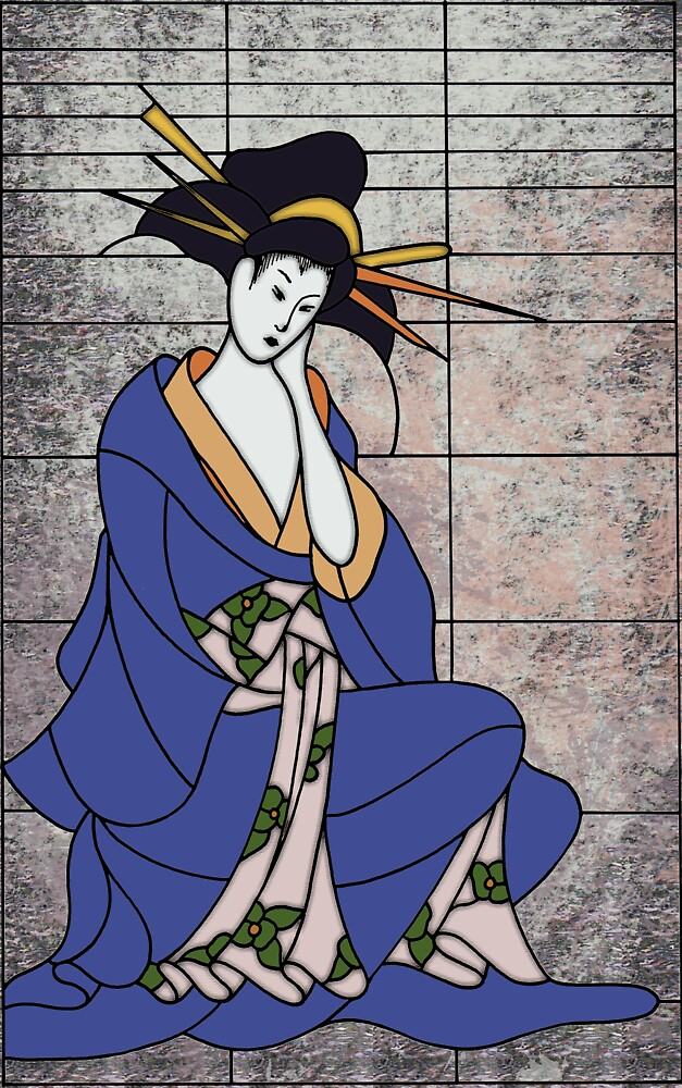 Japanese Lady - Glass by Mike Connor