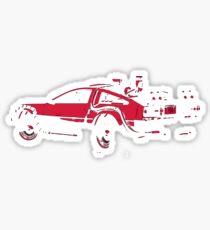 Back to the future Delorean   Car   Cult Movie Sticker