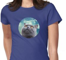 Cat Sky Womens Fitted T-Shirt