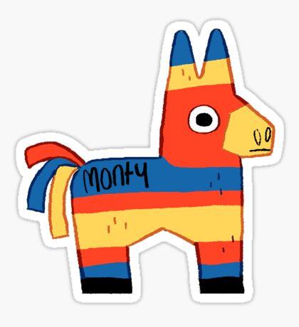 Monty the Pinata Sticker