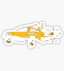 Back to the future Delorean Mustard   Cars   Cult movie Sticker