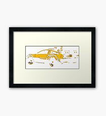 Back to the future Delorean Mustard | Cars | Cult movie Framed Print