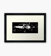 Back to the Future Delorean | Cars | Cult Movies Framed Print