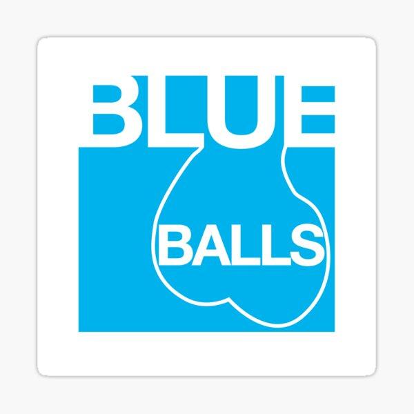 Blue Balls Sticker